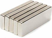(5Stück) Leistungsstark 30mm x 10mm x 3mm Rare Earth Block Bar Neodym-Magnete