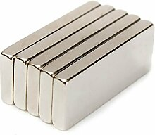 (5Stück) starker Block Bar Neodym 20mm x 10mm x 4mm, die Neo DIY Craft stark Rare Earth NdFeB Magnete