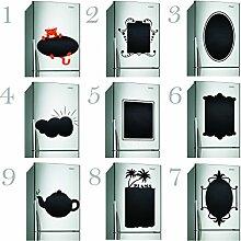 (50x 50cm) Tafel Küche Kühlschrank Vinyl Label/Tafel Wasserdicht selbstklebend Kreiden Zeichnungen Noten Aufkleber/Kühlschrank Memo Noteboard Aufkleber