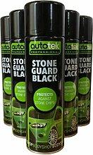 (6Stück) 500ml Autotek Stone Guard schwarz