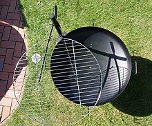 Ø 60 cm Edelstahl V2A Grillrost + massive Halterung für Feuerschale Feuerkorb Grill