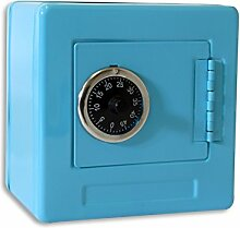 (752) (Blau) Spar-Tresor Safe Minisafe Spardose Sparbüchse Spartresor Zahlenschloss