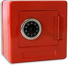(752) (Rot) Spar-Tresor Safe Minisafe Spardose Sparbüchse Spartresor Zahlenschloss