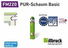 (8,67 €/l) illbruck FM220 PUR Schaum Basic Fensterschaum 750 ml