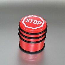 (835 Rot) Türstopper Edelstahl Gold Silber Smiley Katze Stop Look Türhalter Tür Stopper