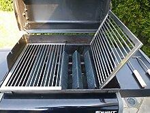 Ø 8mm 2-teilig Edelstahl Grillrost nach Maß + Griffe Maßanfertigung Rost Mass Grill Herstellung (241 - 260 cm)