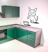 (90 X 90 cm, Motiv 'Hello Kitty ', Pussy cat Fuel Tür Vinyl Drucken für Auto, Gas Tank Art Decor Decal, Ähnlich Simon's cat Design/Wandbild Aufkleber für Kühlschrank, Wandsticker für Die Küche.