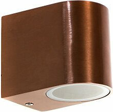 (A0169-1er Kupfer) LED Außenleuchte, Aluminium.