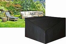 (A1698Ascot) Schutz Cover für Schwarz Polyester Große Ecke Einheit (Rattan Range)