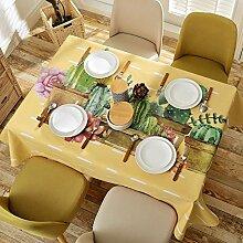 [amerikanisches dorf],home tischdecke,vintage tischdecke.deluxe tischtuch.lÄndlichen] moderne landschaft edge teetisch sauber längliche tischdecke.-A 140x180cm(55x71inch)
