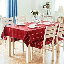 [amerikanisches dorf],home tischdecke,vintage tischdecke.lattice],deluxe tischtuch.lÄndlichen] moderne landschaft edge teetisch sauber längliche tischdecke.mehrere farben.red-Rot 80x80cm(31x31inch)