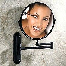 [Antike Make-up Spiegel]/Doppelzimmer Bad Kosmetikspiegel Wand-Teleskop Dressing gefaltet den Spiegel/verstärkt Wand-Spiegel Falten/[Wandklappspiegel]-C