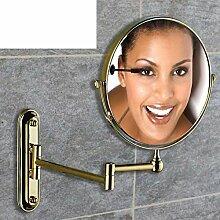 [Antike Make-up Spiegel]/Doppelzimmer Bad Kosmetikspiegel Wand-Teleskop Dressing gefaltet den Spiegel/verstärkt Wand-Spiegel Falten/[Wandklappspiegel]-D