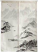 [Berg] Japaner Noren Vorhang Eingang Vorhang Türway Vorhang Wand Dekor