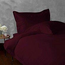 - Bettlaken-Set-4Pc bis zu 38,1cm Deep Pocket 600tc Italienisches Finish Wein Farbe Euro Small Single Größe 100% ägyptische Baumwolle–Durch Paradies Overseas
