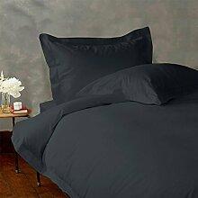 - Bettlaken-Set-4Pc bis zu 38,1cm Deep Pocket 600tc Italienisches Finish Dark Grau Solid Farbe uk-small Double Größe 100% ägyptische Baumwolle–von Paradise Overseas