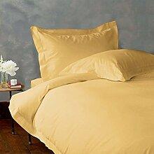 - Bettlaken-Set-4Pc bis zu 38,1cm Deep Pocket 600tc Italienisches Finish Gold Farbe uk-single Größe 100% ägyptische Baumwolle–Durch Paradies Overseas