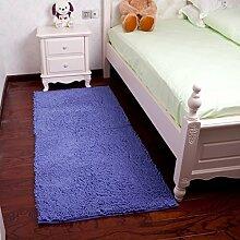 [Chenille Bett Decke]/ Schlafzimmer Teppich/Küche das Wohnzimmer Couchtisch Teppiche/ Dicke Raupe Teppich Chenille Bettdecke-D 50x80cm(20x31inch)