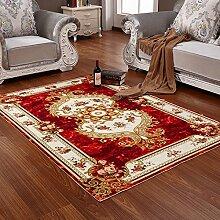 [Drucken dicken Teppich]/European-Style Schlafzimmer Wohnzimmer Couchtisch Teppiche/ legte eine Sofa-Bett-Decke-A 120x160cm(47x63inch)