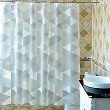 @Duschvorhänge Badezimmer Duschvorhang, wasserdicht abgeschnitten Duschvorhang Stoff Mehltau Isolierung Schutzhaken Vorhänge Badezimmer Hotel Vorhänge Pull Vorhänge ( Farbe : Bunte , größe : W180*H178CM )