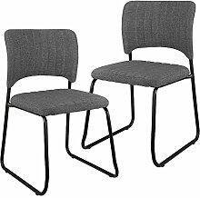 [en.casa] Elegante Designstühle mit Stoff-Bezug