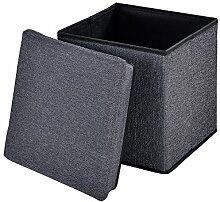 [en.casa] Faltbarer Sitzhocker (30 x 30 x 30