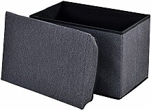 [en.casa] Faltbarer Sitzhocker (48 x 32x 32