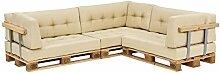 [en.casa] Modernes Paletten-Sofa In/Outdoor + 3X