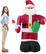 [en.casa] Weihnachtsmann 193cm Bewegend LED