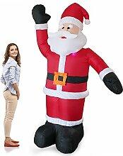 [en.casa] Weihnachtsmann 240cm Bewegend LED