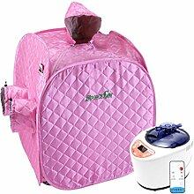 &Entgiftung Tragbare Dampfsauna / Home Sauna / Sauna abnehmen ( Farbe : Pink )