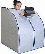 &Entgiftung Tragbare Weit Infrarot-Sauna, Dampfbad Portable abnehmen ( Farbe : Silber )
