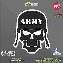 [ERREINGE] STICKER KONTUR-AUFKLEBER 22cm - Schädel Skull Army Militär - Aufkleber Decal Transfer Vinyl Wandaufkleber Laptop Auto Motorrad Helm Camper