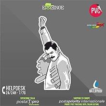 [ERREINGE] STICKER KONTUR-AUFKLEBER 24cm - Freddie Mercury Meme Memes - Aufkleber Decal Transfer Vinyl Wandaufkleber Laptop Auto Motorrad Helm Camper