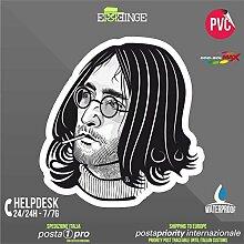 [ERREINGE] STICKER KONTUR-AUFKLEBER 28cm - John Lennon The Beatles - Aufkleber Decal Transfer Vinyl Wandaufkleber Laptop Auto Motorrad Helm Camper