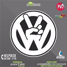[ERREINGE] STICKER KONTUR-AUFKLEBER 35cm - Volkswagen Vw Illest JDM DUB Peace Tuning Racing Drift - Aufkleber Decal Transfer Vinyl Wandaufkleber Laptop Auto Motorrad Helm Camper