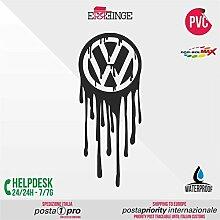 [ERREINGE] STICKER PRE-SPACED nero 35cm - Volkswagen JDM DUB Illest Vw Hoonigan Tuning Racing Drift - Aufkleber Decal Transfer Vinyl Wandaufkleber Laptop Auto Motorrad Helm Camper