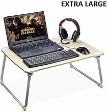 [EXTRA GROß] Klappbar Laptoptisch, Betttisch Laptop, Kind Frühstücken Tablett, Tragbarer Stehtisch, Outdoor Tisch fürs Camping & Picknick, Notebook Ständer Sofa Tisch - Avantree 903 [2 Jahre Garantie]