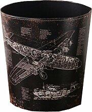 [Flugzeug] Papierkorb Papierkorb Mülleimer Mülleimer 10,24 * 10,24 * 7,87 Zoll