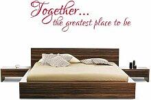 (groß) 'Zusammen, die größte Place To Be' Schlafzimmer Wand Aufkleber Vinyl Grafiken Aufkleber