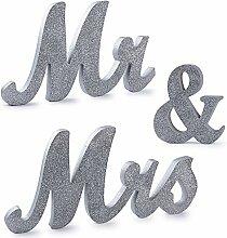 (H: 15cm) Mr Mrs Holz Buchstaben Hochzeitsdeko