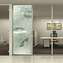 [Hoho] 3D Laser Statische Fensterfolie kein Kleber Statische Dekorative Sichtschutz Fenster Filme für Glas nicht klebend Hitze Kontrolle Anti UV -, 0.92mx15m