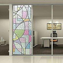 [Hoho] Abstrakt Geometrie Figur Privacy Glas Statische Fenster Film matt gebeizt Tint DIY, 0.92mx25m