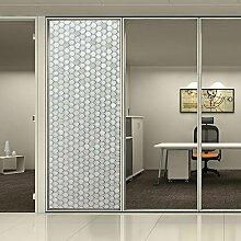 [Hoho] kein Kleber Sichtschutz Fensterfolie Sichtschutzfolie Glas Fenster Aufkleber für Büro und Home Hitze Kontrolle UV Film, 0.92mx1m