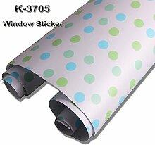 [Hoho] Sichtschutz Deko Design Fenster Filme Vinyl Milchglas selbstklebend DIY, k3705, 1.22m*3m