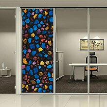 [Hoho] Sichtschutz kein Kleber Statische Cover gebeizt Flower Fenster Glas Film Home Decor 92cm * 50cm R032
