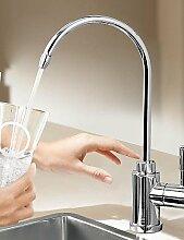 *-* HPB ™ Moderne Trinkwasser Chrom-Finish Messing Ein Loch Einhand-Küchenarmatur
