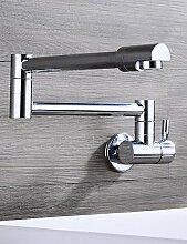 *-* HPB Zeitgenössische Flexible Chrom-Finish Messing Ein Loch Einhand-Küchenarmatur
