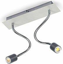 !!!JETZT IM ANGEBOT!!! HADAR-1 Schienensystem 1/2/3/4 Flammig LED COB 5W LED Wandstrahler Deckenslampe Strahler Schienensystem Flexibilität (2-Flammig)