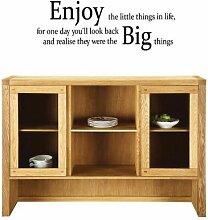 (klein) 'Enjoy the little things in life' Vinyl Wand Aufkleber Aufkleber